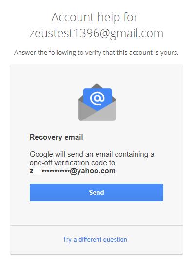 ایمیل بازیابی